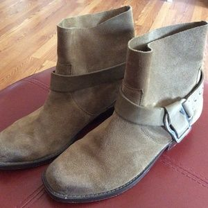 Joe's Brown Suede Saki Harness Ankle Boots